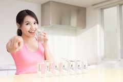 Woman drink water Stock Photography