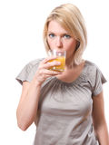 Woman drinking Stock Photography