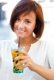 Woman drinking Royalty Free Stock Photos
