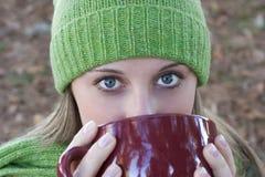 Woman Drinking Stock Image