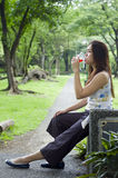 Woman Drinking royalty free stock photo