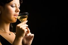 Woman drinking Royalty Free Stock Photo