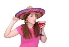 Woman drinking Royalty Free Stock Images