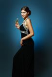 Woman drinking Champagne Royalty Free Stock Photo