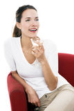 Woman drinking a cocktail Royalty Free Stock Images
