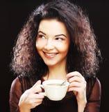 Woman drinking coffee Stock Photos