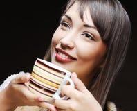 Woman drinking coffee Royalty Free Stock Photo