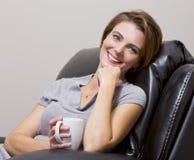 Woman drinking coffee Stock Photo