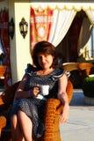 Woman drinking coffee - Stock photos Stock Photos