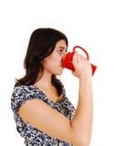 Woman drinking coffee. Stock Image
