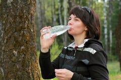 Woman drinking Stock Photos