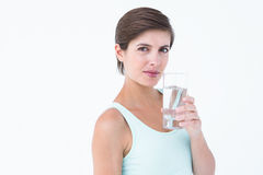 Woman drinking glass of water Stock Images