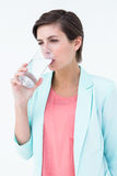 Woman drinking glass of water Stock Photos