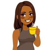 Woman Drinking Herbal Tea Royalty Free Stock Photography