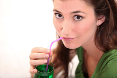 Woman drinking Stock Photos