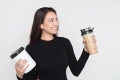 Woman With Shake Stock Image
