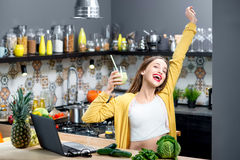 Woman drinking smoothie Royalty Free Stock Photo