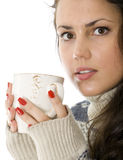 Woman drinking tea Royalty Free Stock Photography