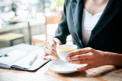 Free Woman Drinking Tea Stock Photography - 57016142