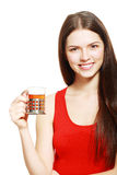 Woman drinking tea Royalty Free Stock Photo