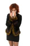 Woman drinking tea or coffee Royalty Free Stock Photos