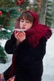 Woman drinking tea Royalty Free Stock Photos