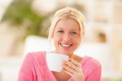 Woman Drinking Tea Royalty Free Stock Photo
