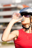 Woman drinking water Royalty Free Stock Photo