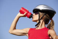 Woman drinking water Stock Image