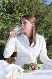 Woman drinking water Royalty Free Stock Photography