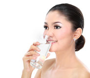 Woman drinking water Royalty Free Stock Photos