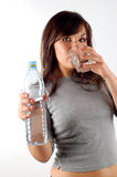 Woman drinking water #6 Stock Images