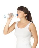 Woman drinking water from bottle Royalty Free Stock Images