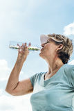 Woman Drinking Water After Exercise Concept Royalty Free Stock Photography