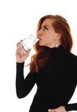 Woman drinking water. Royalty Free Stock Photo