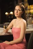 Woman drinking wine. Royalty Free Stock Photos