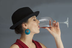 Free Woman Drinking Wine Royalty Free Stock Images - 30762039