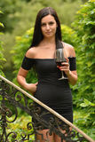 Woman drinking wine. Royalty Free Stock Photography