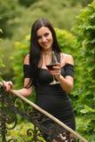 Woman drinking wine. Royalty Free Stock Photo