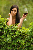 Woman drinking wine. Stock Photography