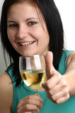 Woman drinks home made wine Royalty Free Stock Photos