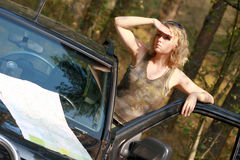 A woman driver Stock Photos