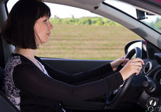 Woman driver Stock Image