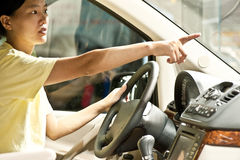 Woman driver Royalty Free Stock Image