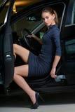 Woman driver royalty free stock photos