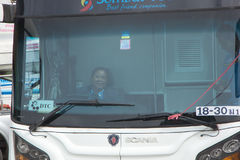 Woman Driver Bus of Sombattour company