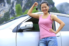 Woman driver new car Royalty Free Stock Photography