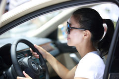 Woman driver Stock Images