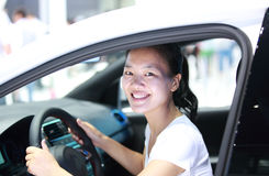 Woman driver Royalty Free Stock Photo