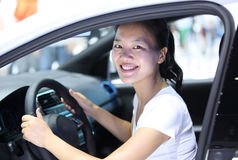 Woman driver Stock Photography